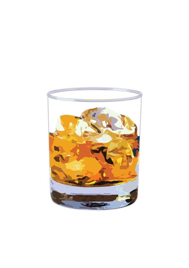 Download Szklankę whisky ilustracja wektor. Ilustracja złożonej z duchy - 57657197
