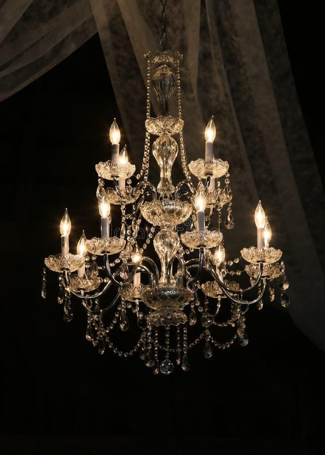 Szklany świecznik obrazy royalty free