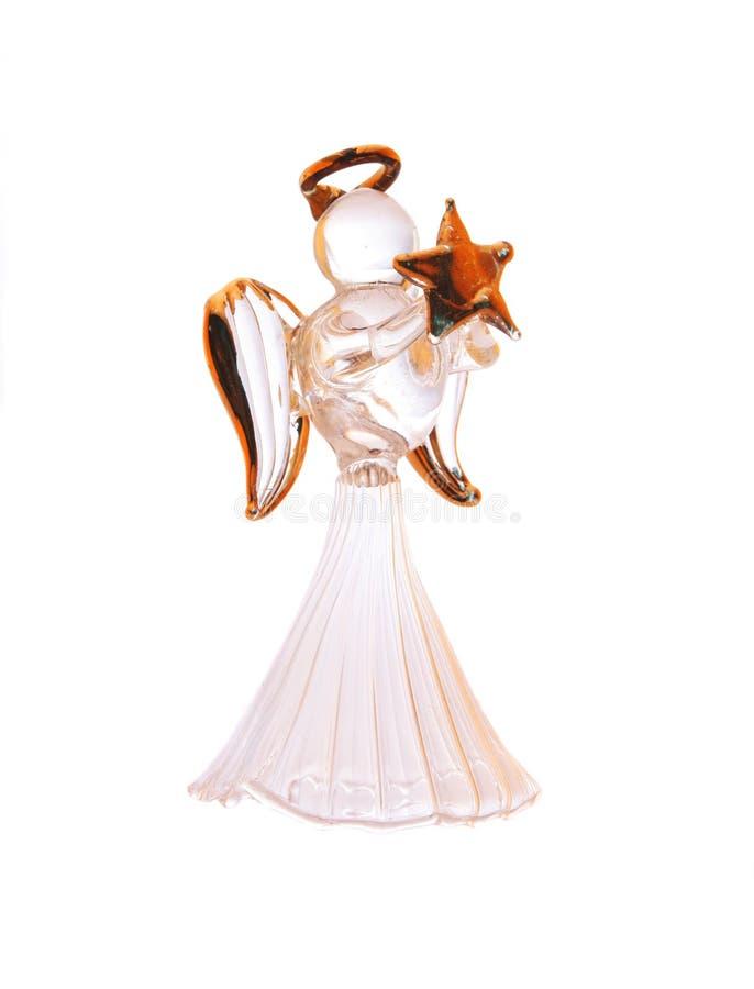 szklany anioła biel fotografia stock