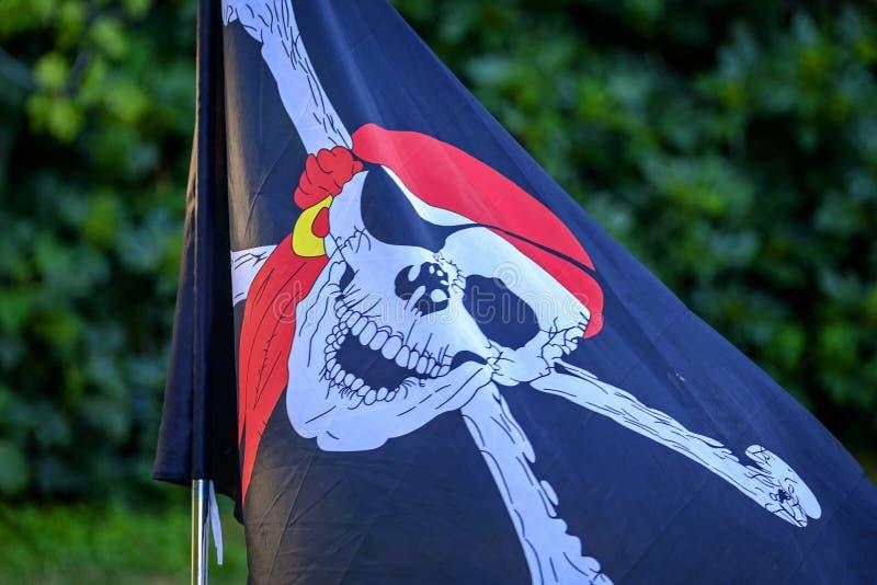 szklany bandery piratów dostępne stylu wektora fotografia royalty free