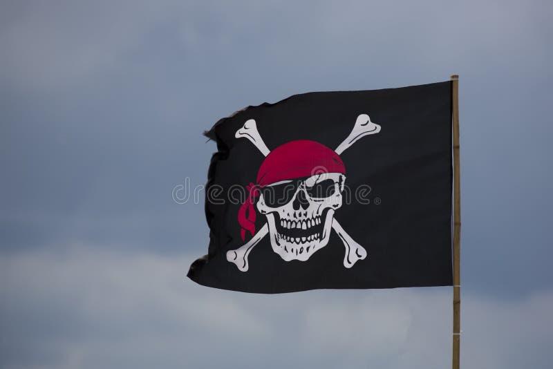 szklany bandery piratów dostępne stylu wektora zdjęcia royalty free