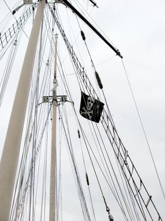 szklany bandery piratów dostępne stylu wektora fotografia stock