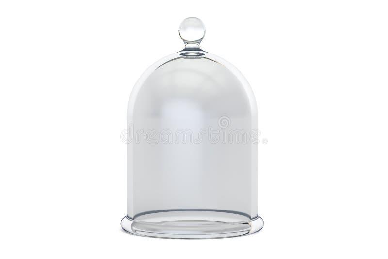 Szklany Bell lub Dzwonkowy słój, 3D rendering royalty ilustracja