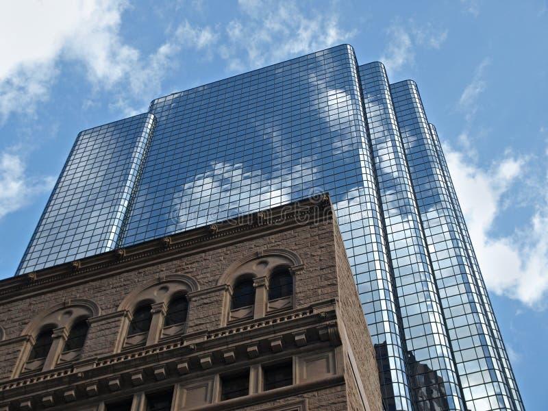 szklany biura budynku historyczny kamień obraz royalty free
