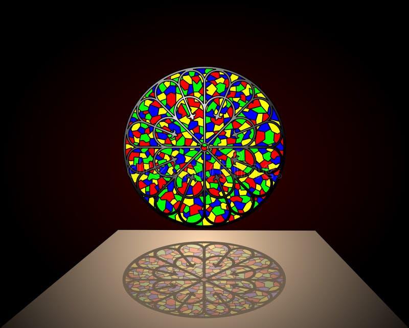 szklany cień oznaczane ilustracji