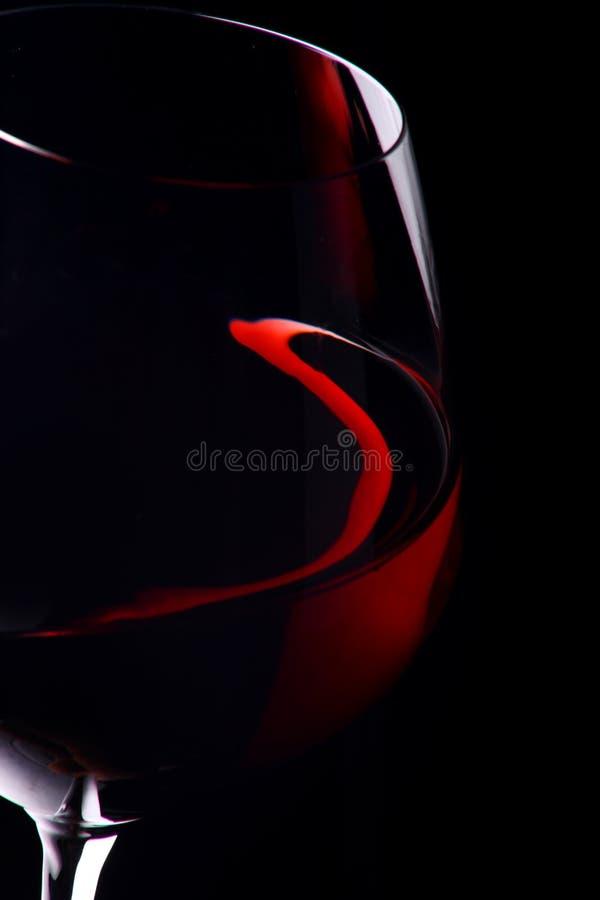 szklany czerwone wino obraz stock