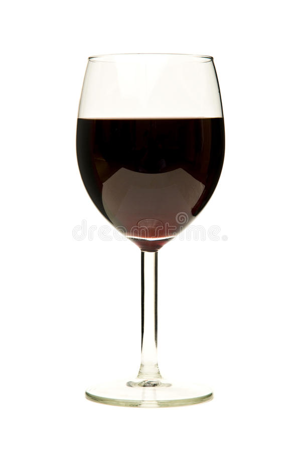 szklany czerwone wino zdjęcia stock