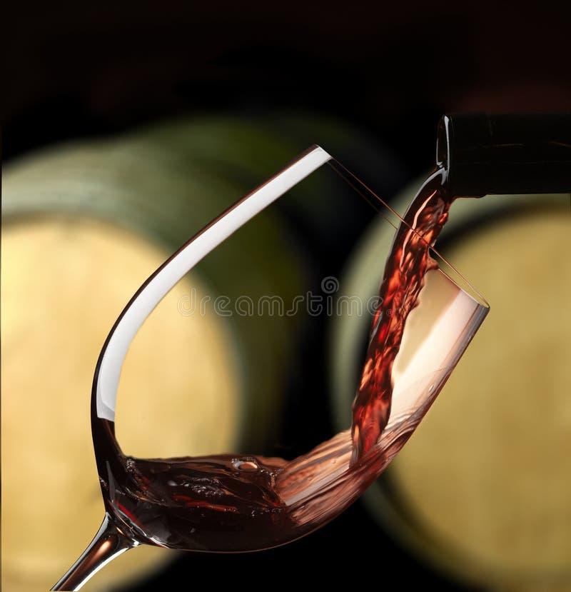 szklany czerwone wino zdjęcie royalty free