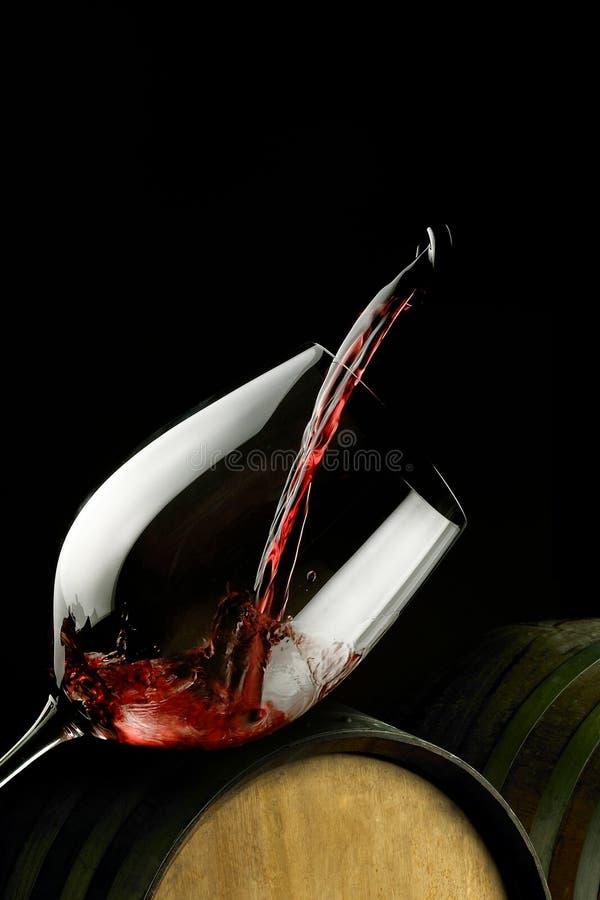 szklany czerwone wino zdjęcie stock