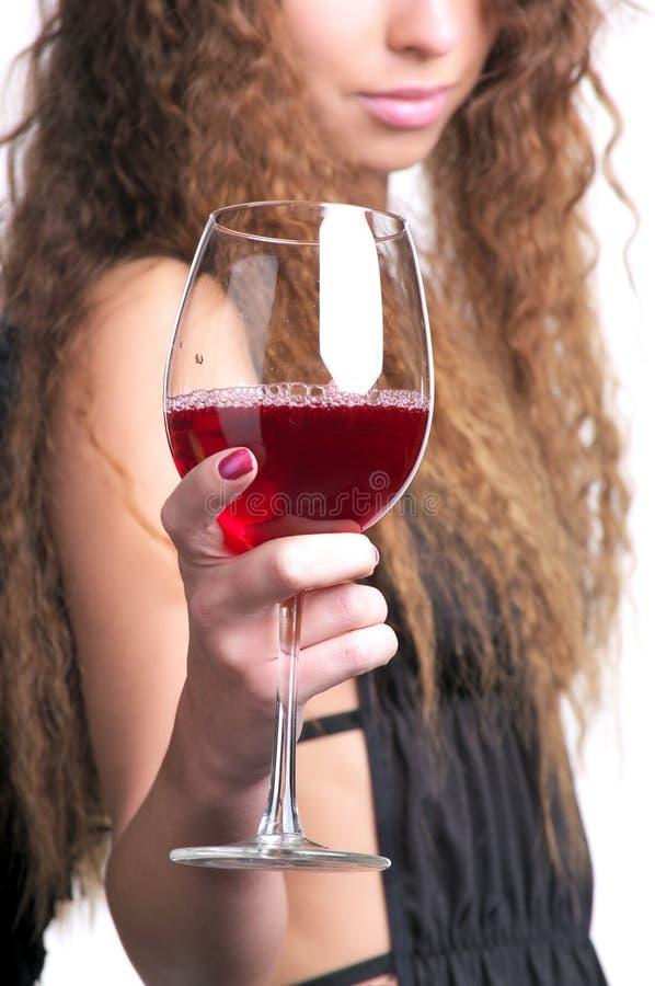 szklany czerwone wino fotografia stock