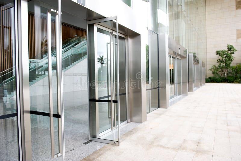 Szklany drzwi zdjęcie royalty free