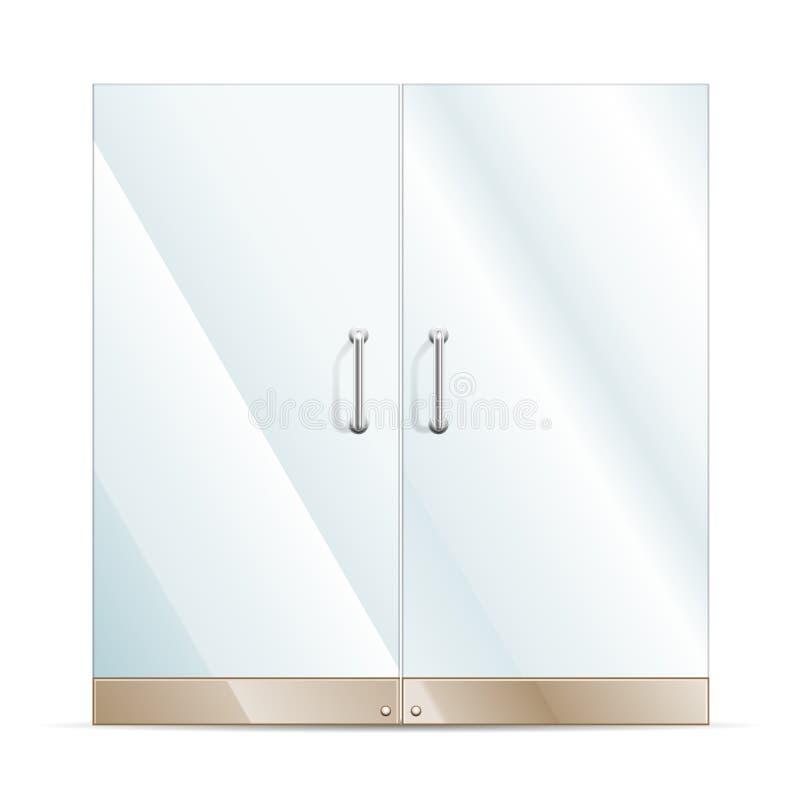 Szklany drzwi ilustracja wektor