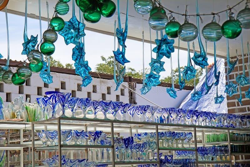 Szklany fabryczny sklep w Los Cabos, Meksyk (Cabo San Lucas) obrazy royalty free