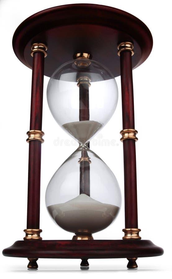 szklany godzinę white obrazy stock