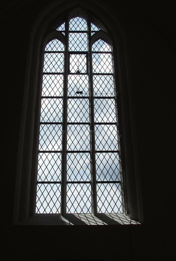 szklany gothic oznaczony przez okno fotografia royalty free