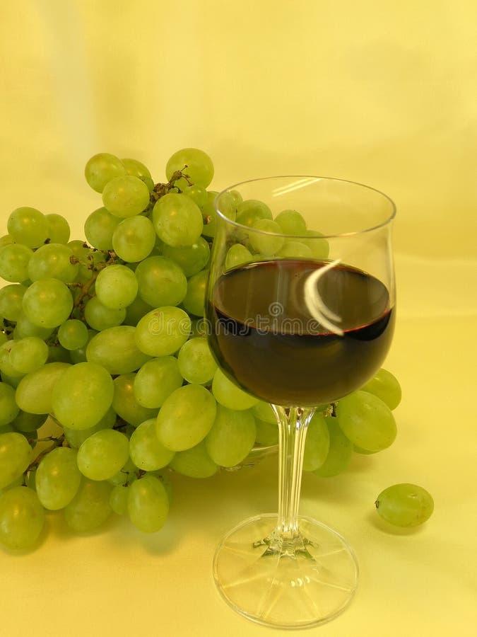 szklany gronowy wino obraz royalty free