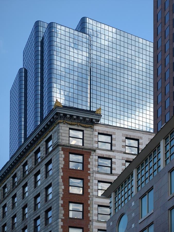 szklany historyczne budynku biura nowoczesnego kamień zdjęcie royalty free