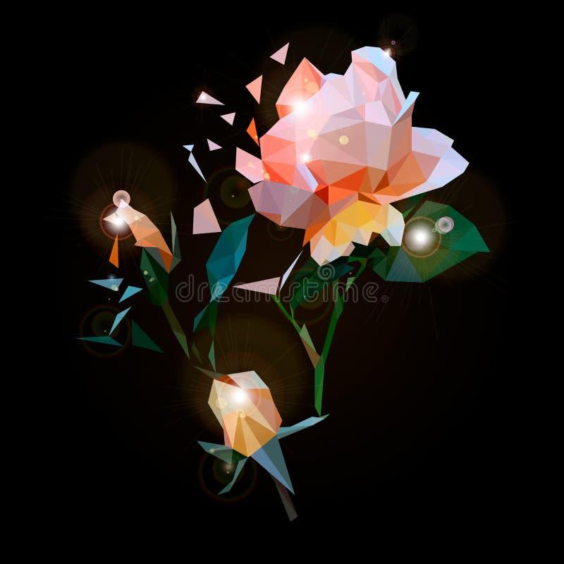 Szklany kwiat royalty ilustracja