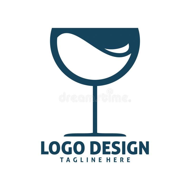 Szklany logo ilustracji