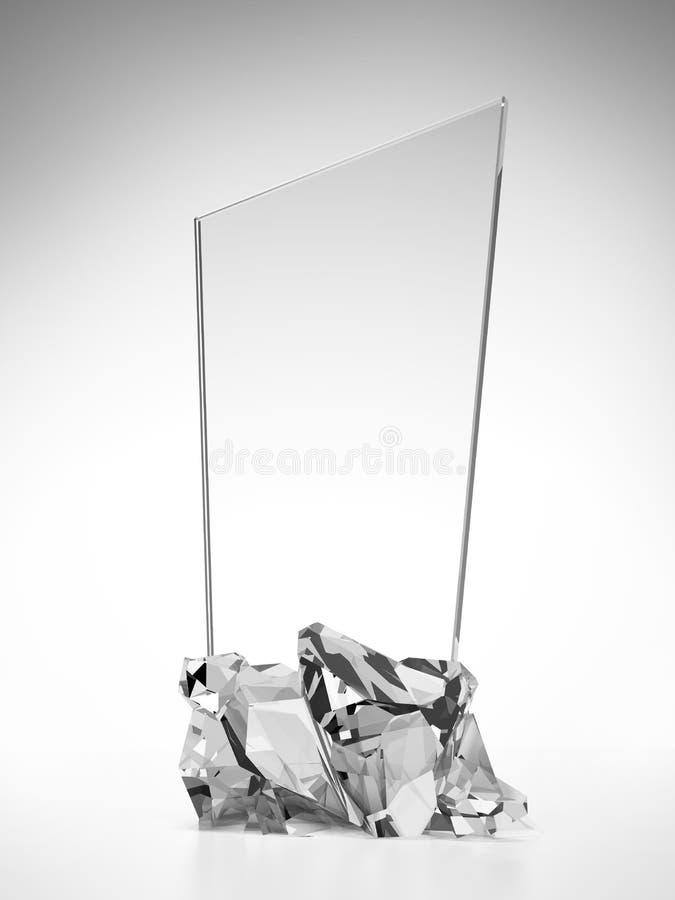 Szklany nagroda talerz ilustracji