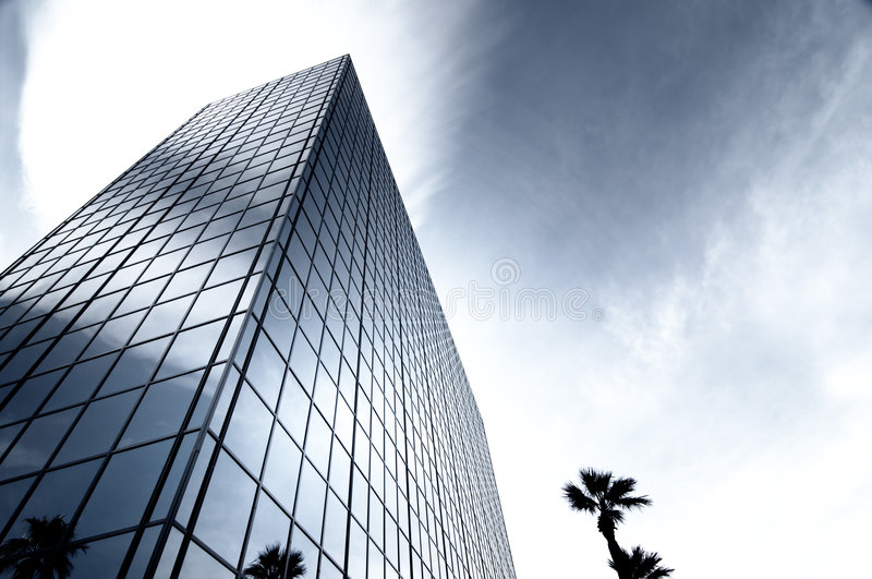 szklany nowoczesne stali wieży biura obraz stock