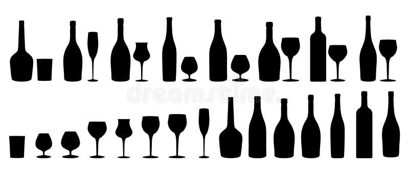 szklany plażowy lunchu wino royalty ilustracja