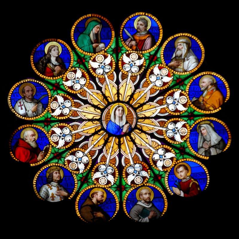 szklany pobrudzony Mary szklany zdjęcia royalty free