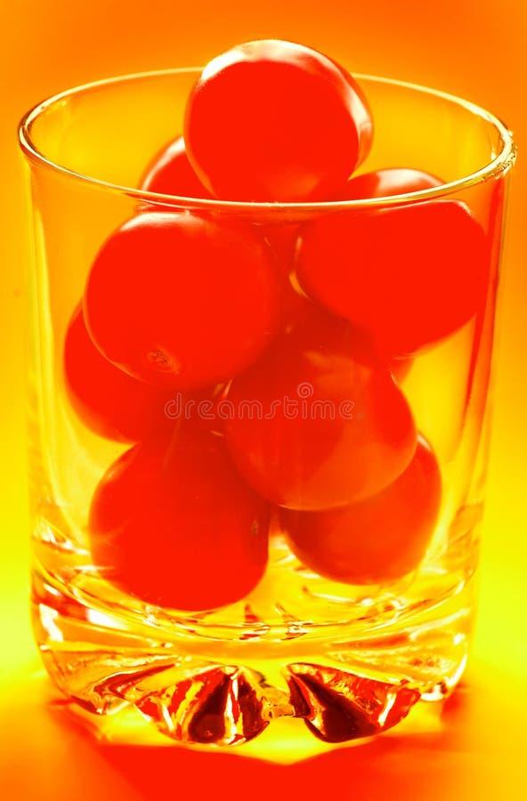 szklany pomidor obraz stock