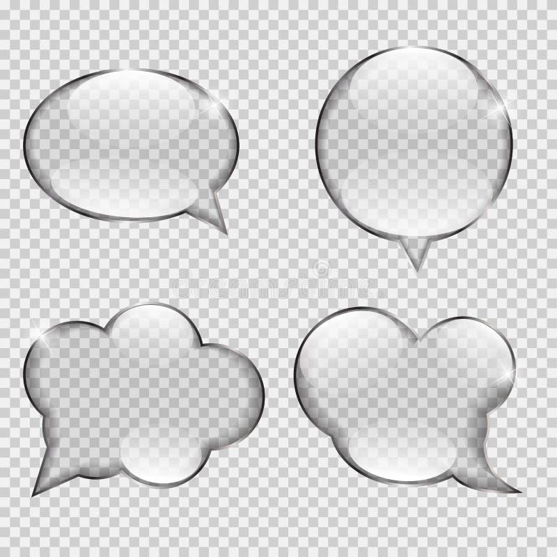 Szklany przezroczystości mowy bąbla wektor ilustracja wektor