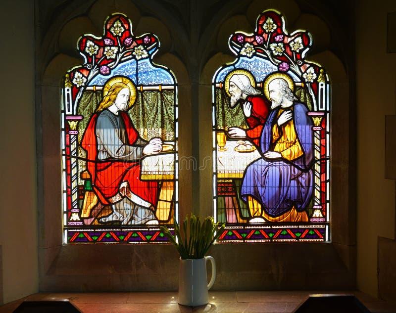 szklany religijny oznaczony Dzbanek kwiaty obrazy royalty free