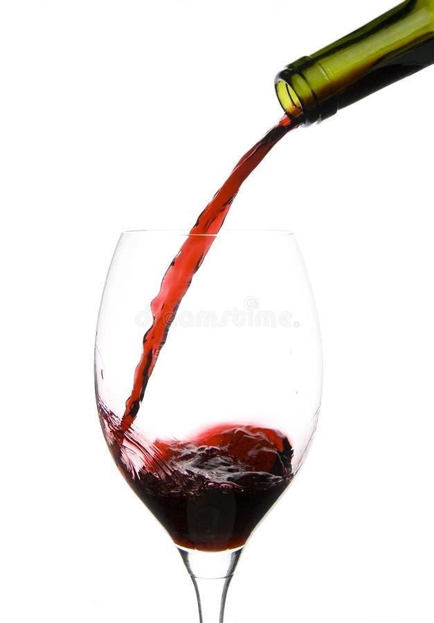 szklany restauracyjny wino zdjęcie stock