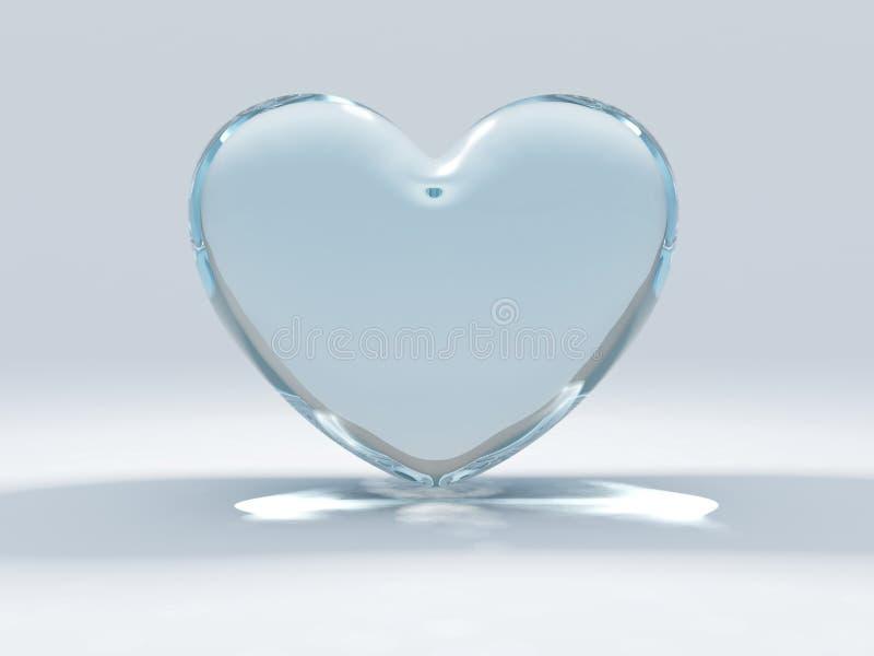 szklany serce royalty ilustracja