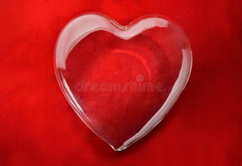 Szklany serce obrazy stock