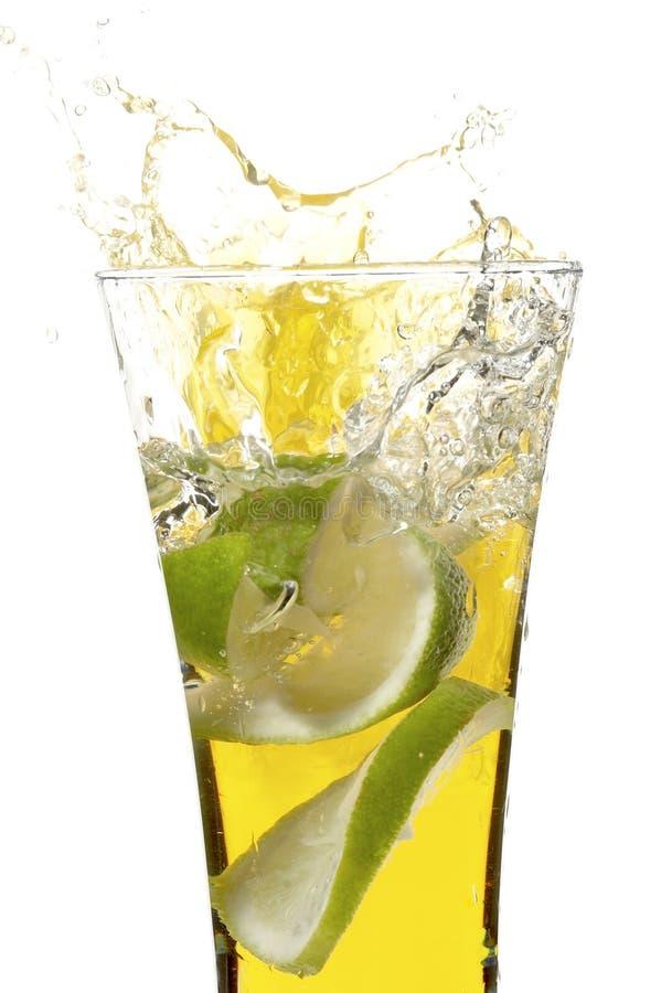 szklany sok cytrynowy obrazy stock