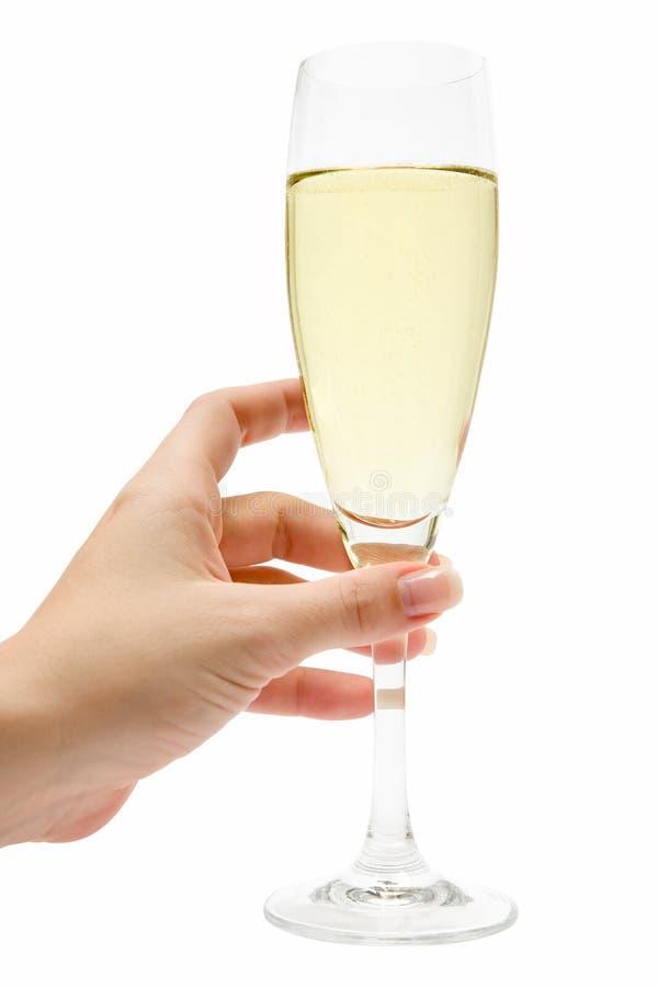 szklany szampania gospodarstwa zdjęcie royalty free