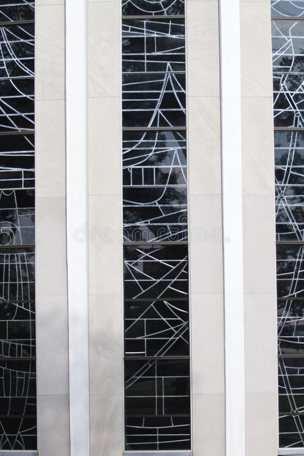 Szklany szczegół świętego Micheal kościół katolicki obrazy stock
