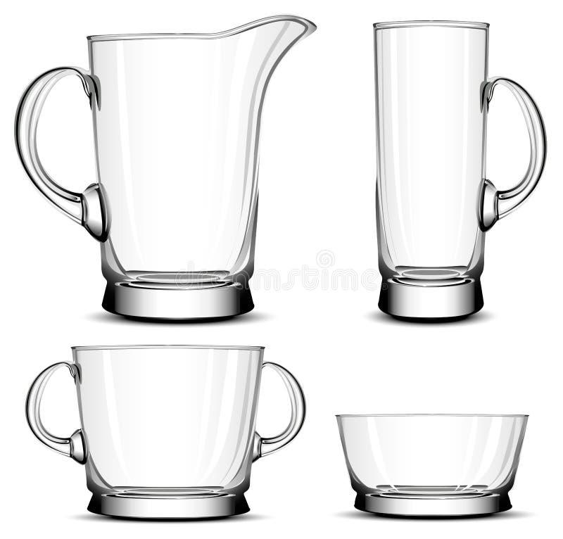 szklany tableware ilustracji