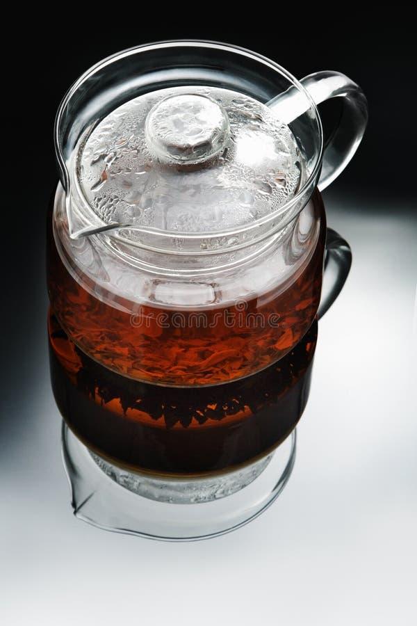 Szklany teapot zdjęcie stock