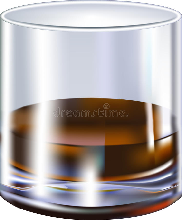 szklany trunek royalty ilustracja