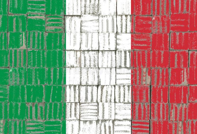 szklany Włochy dostępne bandery stylu wektora royalty ilustracja