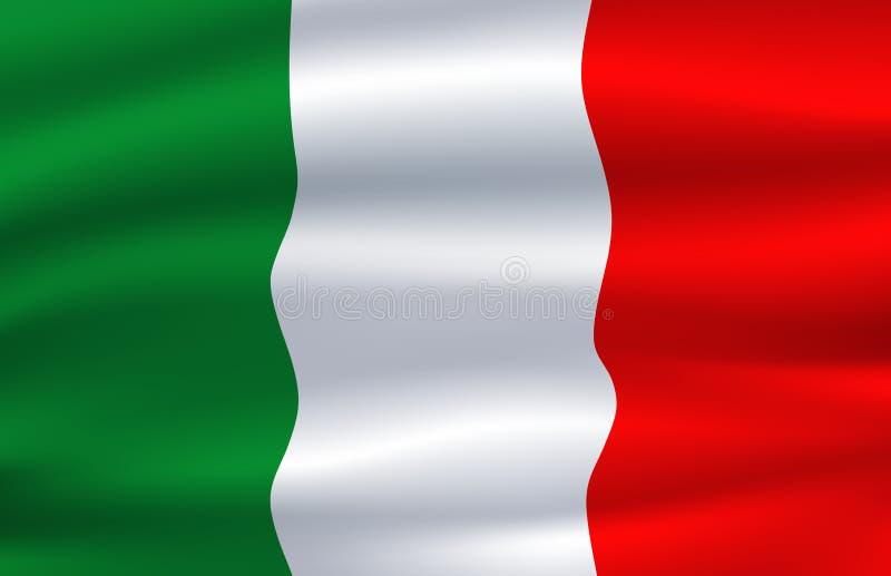 szklany Włochy dostępne bandery stylu wektora Wektorowy Włoski krajowy symbol ilustracja wektor