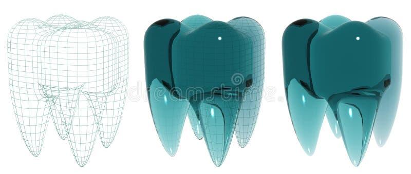 szklany ząb royalty ilustracja