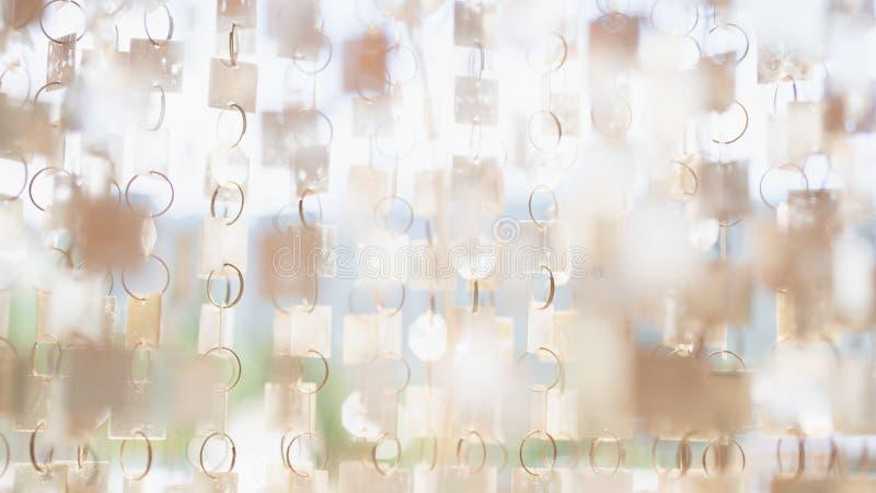 Szklany z paciorkami payette perły zasłony tło zamknięty w górę obrazy stock