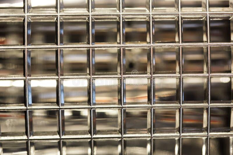 Szklanych bloków prosta ścienna gospodarka fotografia royalty free