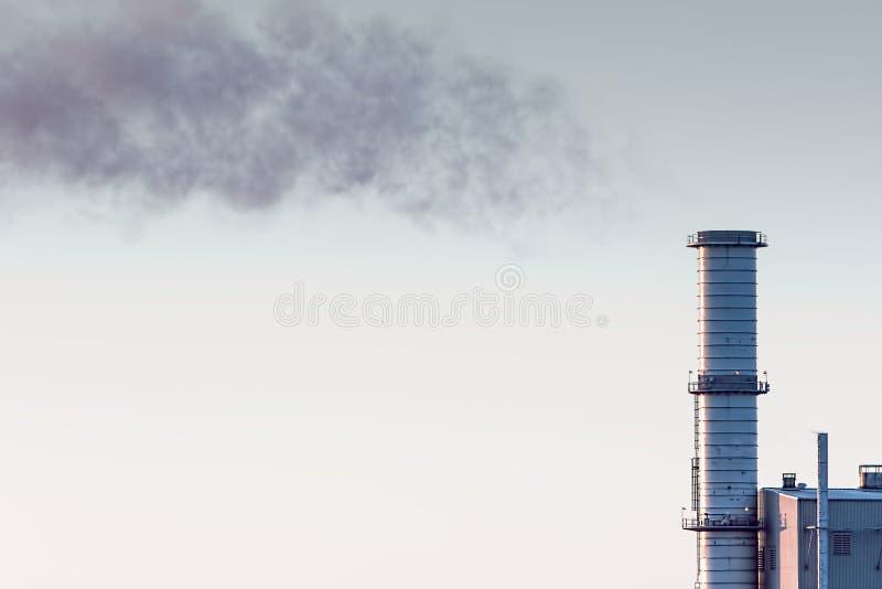 Szklarniany gaz Przemysłowy zanieczyszczenie i emisje węgla obraz stock