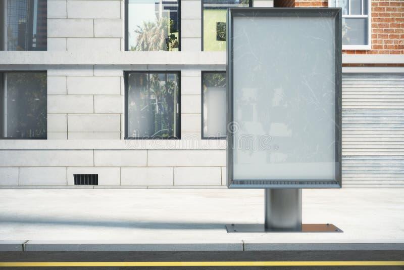 Download Szklisty Billboard Na Miasto Ulicie Ilustracji - Ilustracja złożonej z wyznaczający, reklama: 65225267