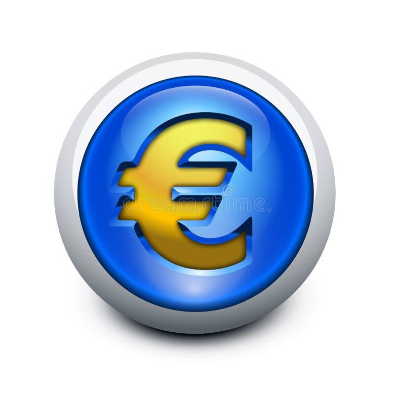 szklisty guzika euro royalty ilustracja