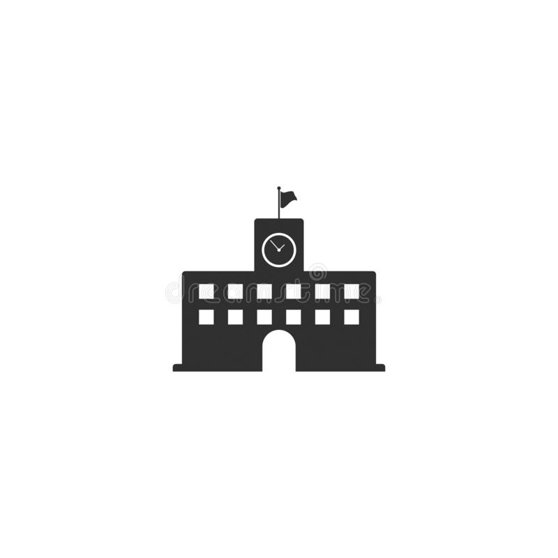 Szkoła średnia budynku ikony wektor odizolowywał 3 ilustracji