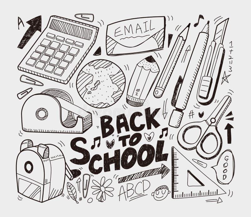 Szkoła - doodles inkasowi ilustracja wektor