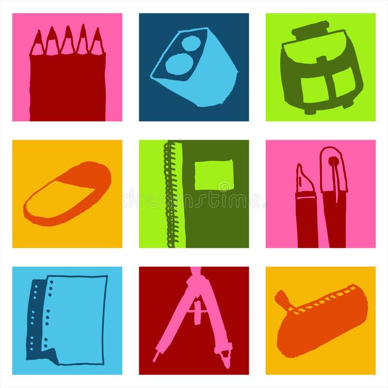 szkoła ikony ilustracji
